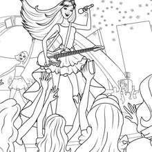 Coloriage Barbie : Coloriage de KEIRA