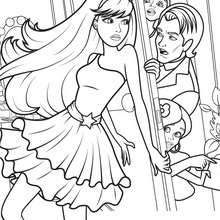 Coloriage Barbie : KEIRA la Popstar à colorier