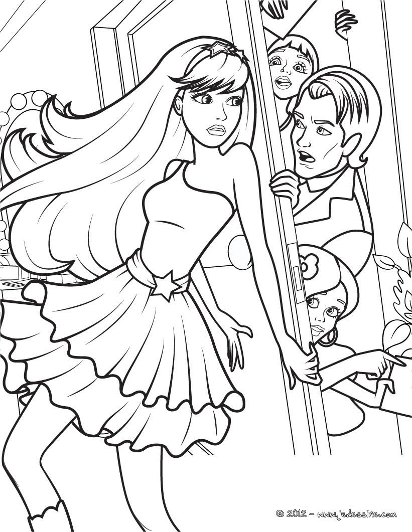 Comment dessiner une barbie - Barbie a dessiner ...