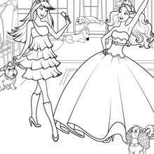 KEIRA et TORI de nouvelles amies - Coloriage - Coloriage BARBIE - Coloriage BARBIE - LA PRINCESSE et LA POPSTAR