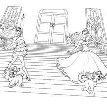 Coloriage de la Princesse et la Popstar - Coloriage - Coloriage BARBIE - Coloriage BARBIE - LA PRINCESSE et LA POPSTAR
