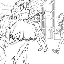 Coloriage Barbie : TORI rencontre les Habitants