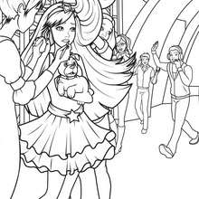 TORI à colorier gratuitement - Coloriage - Coloriage BARBIE - Coloriage BARBIE - LA PRINCESSE et LA POPSTAR