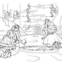 Coloriage Barbie : Coloriage de la plante diamant