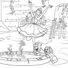 Coloriage Barbie : Coloriage du miracle de la plante diamant