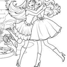 La princesse et la Popstar à imprimer - Coloriage - Coloriage BARBIE - Coloriage BARBIE - LA PRINCESSE et LA POPSTAR