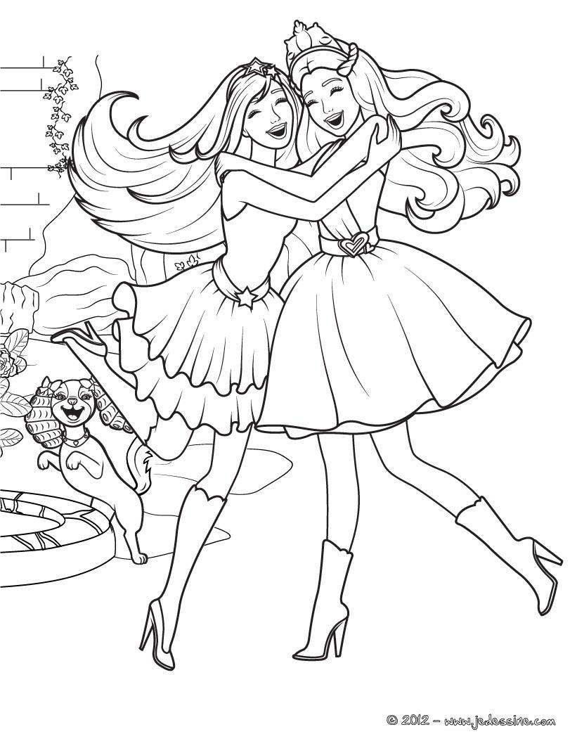 Coloriage Barbie : La princesse et la Popstar à imprimer