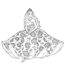 Coloriage Barbie : Coloriage gratuit TORI