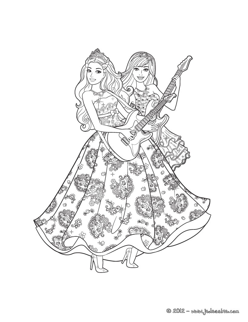 Coloriages Barbie La Princesse Et La Popstar 35 Coloriages