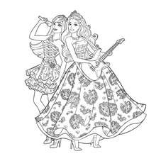 Coloriage des Stars de la Pop - Coloriage - Coloriage BARBIE - Coloriage BARBIE - LA PRINCESSE et LA POPSTAR