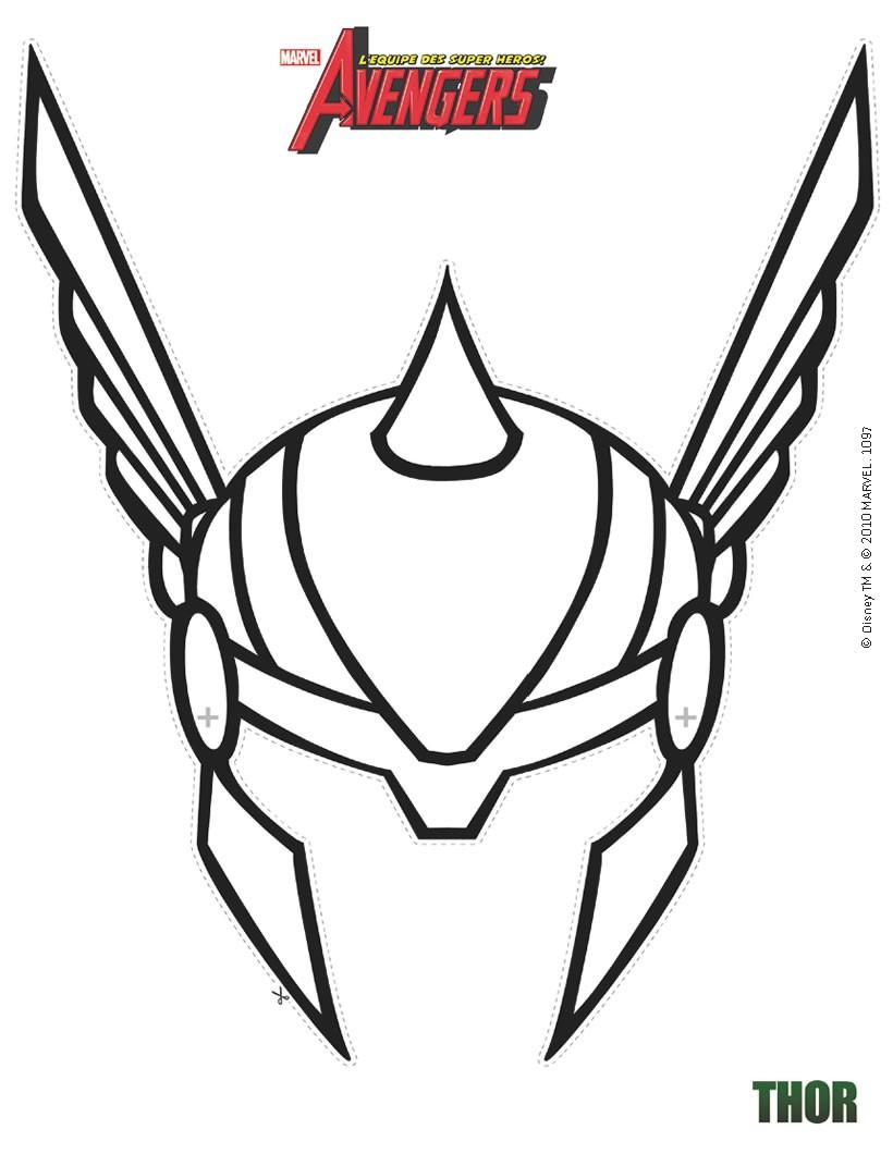 Activit s manuelles masque de thor d couper - Jeux de lego avengers gratuit ...