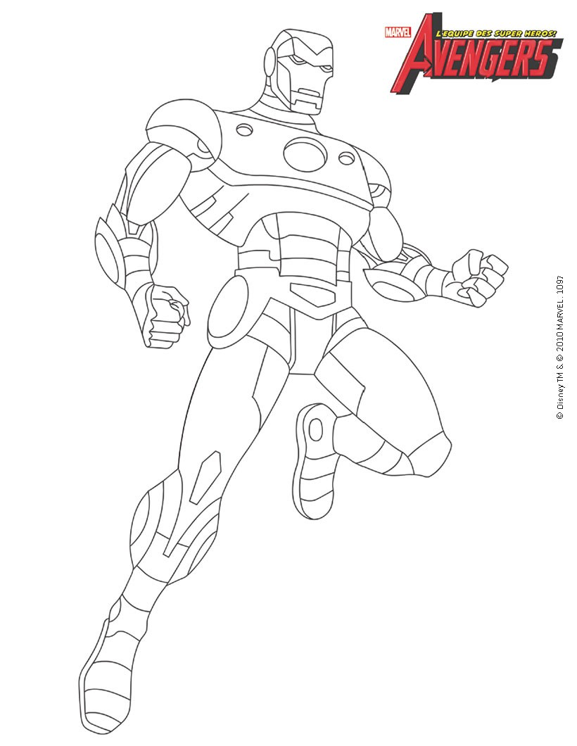 Coloriage : Iron Man