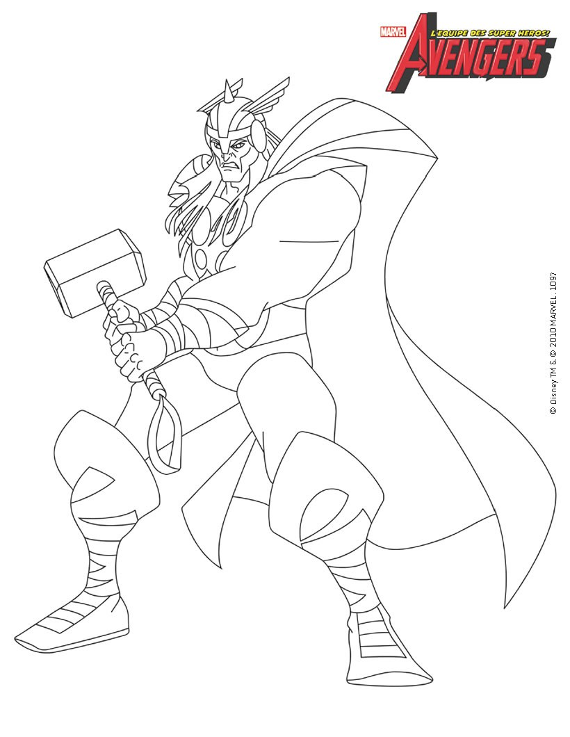 Coloriages thor - Coloriage de avengers ...
