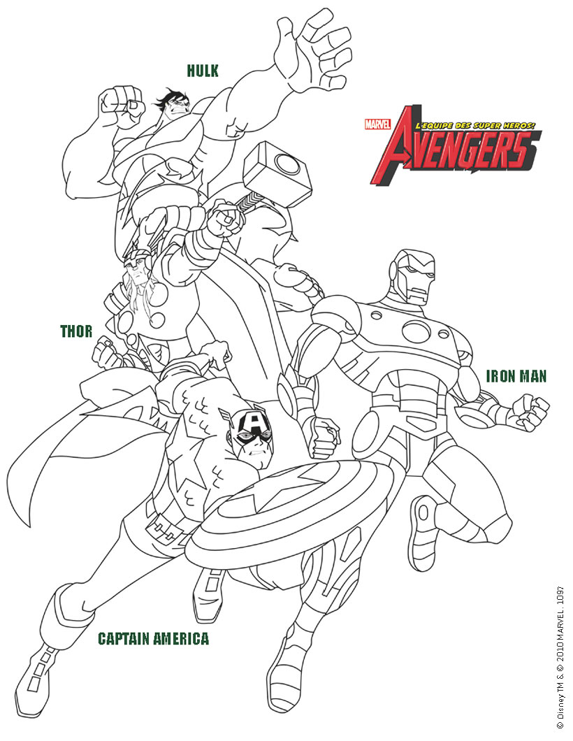 Coloriages avengers hulk iron man captain america et - Coloriage hulk en ligne ...