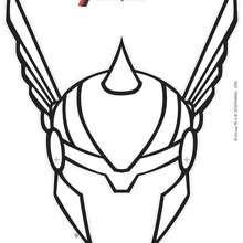 Masque à imprimer : Masque de Thor à découper