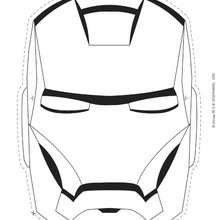 Coloriage du casque de IRON MAN - Coloriage - Coloriage DISNEY - Coloriage AVENGERS