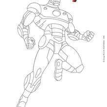 Coloriage IRON MAN - Coloriage - Coloriage DISNEY - Coloriage AVENGERS