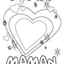 Coloriage Bonne fête Maman