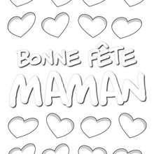 Coloriage Coeurs pour Maman - Coloriage - Coloriage FETES - Coloriage FETE DES MERES