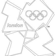 Coloriage du LOGO OFFICIEL DES J.O. DE LONDRES 2012 - Coloriage - Coloriage SPORT - Coloriages des JEUX OLYMPIQUES A COLORIER - Coloriages des JEUX OLYMPIQUES DE LONDRES 2012