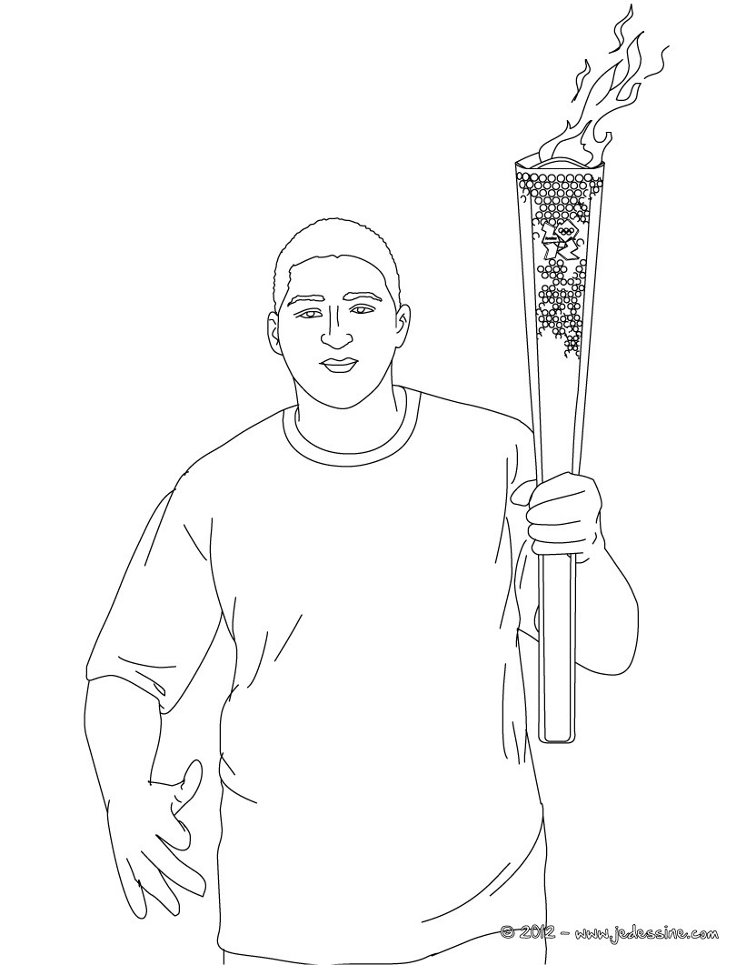 Coloriages coloriage de la flamme olympique colorier - Coloriage flamme ...