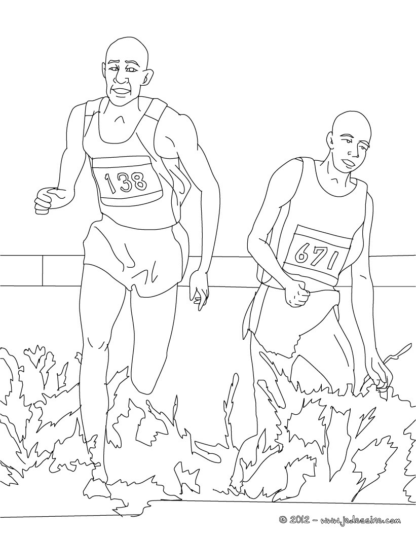 Coloriage COURSE D'ATHLETES