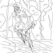 Coloriages coloriage de cycliste sur route - Dessin velo vtt ...