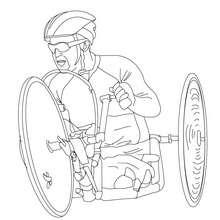 Coloriage de CYCLISTE PARALYMPIQUE