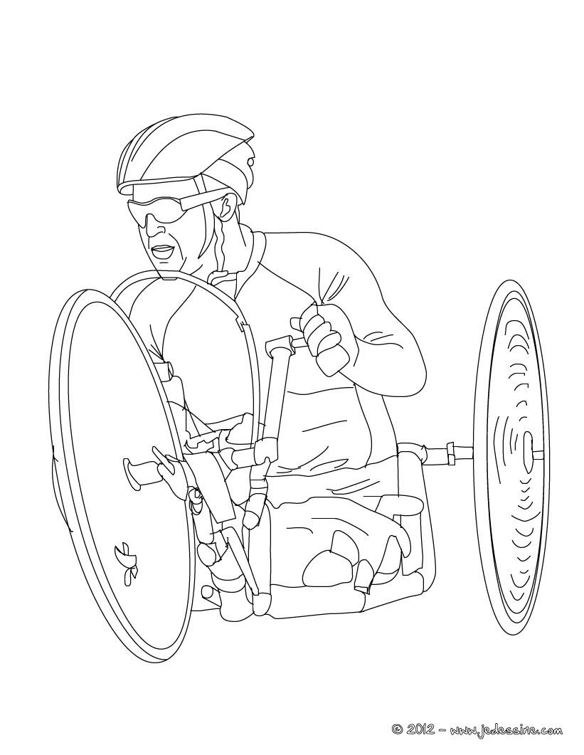 Coloriages coloriage de cycliste paralympique fr - Coloriage de cycliste ...