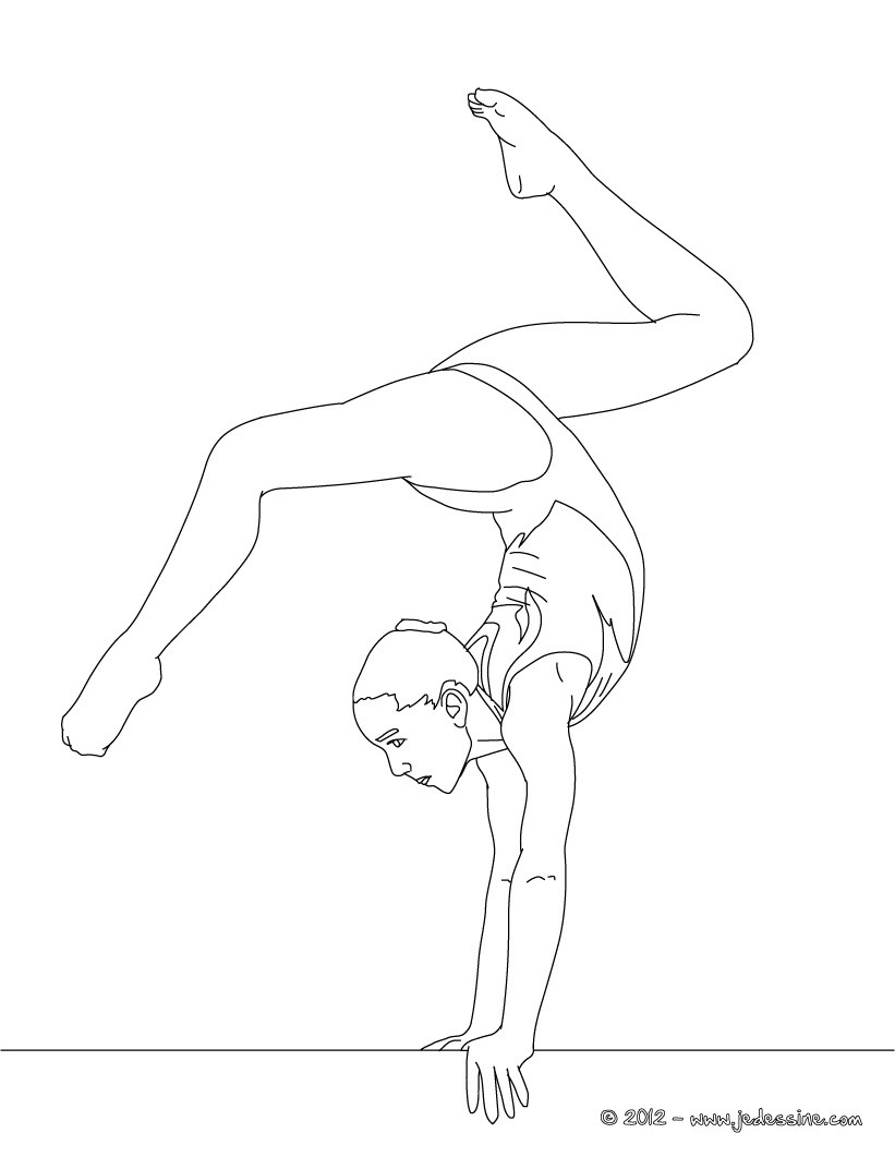 comment dessiner une gymnaste