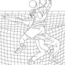 Coloriage de BEACH VOLLEY - Coloriage - Coloriage SPORT - Coloriage VOLLEYBALL