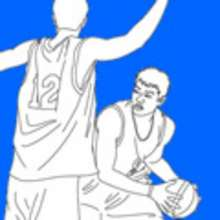 BASKET aux JO - Coloriage SPORT - Coloriage