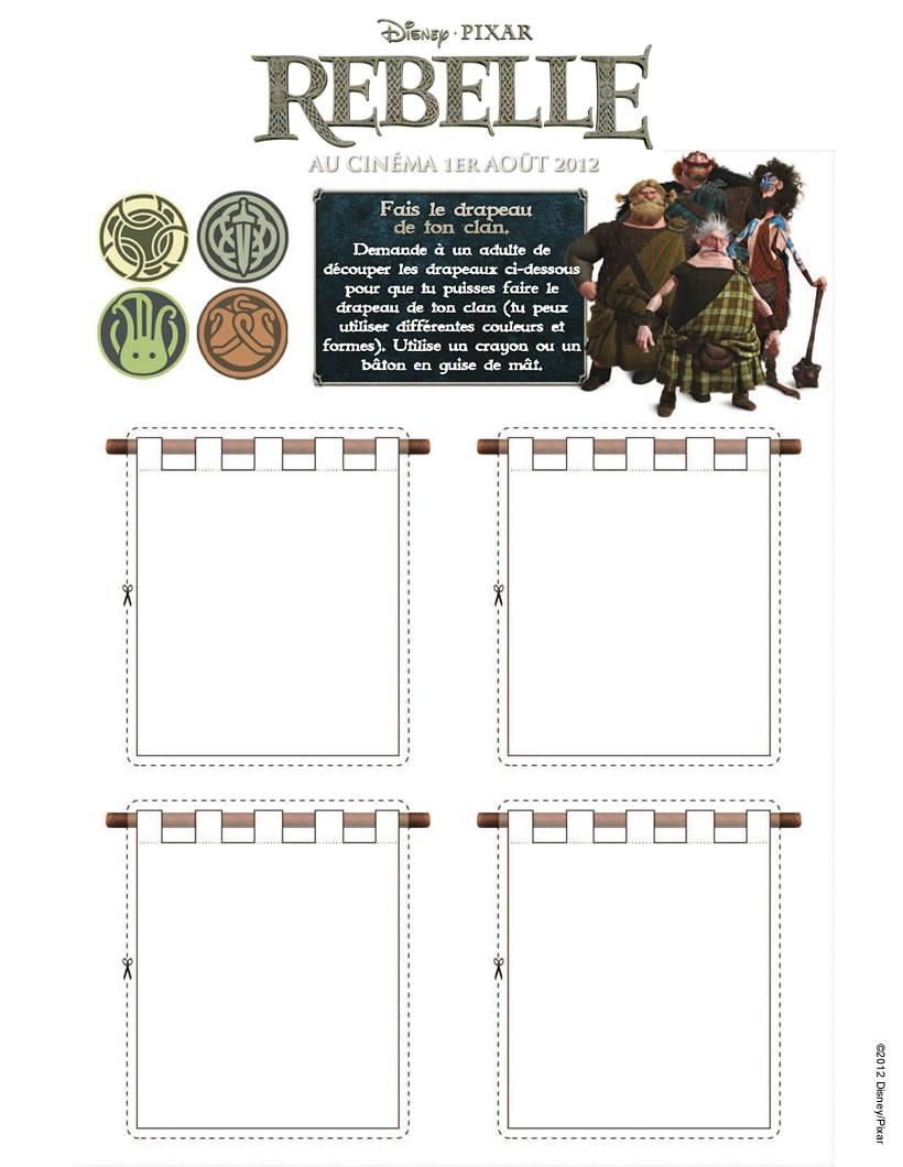 jeux de fais le drapeau de ton clan avec rebelle. Black Bedroom Furniture Sets. Home Design Ideas