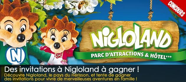 Découvre Nigloland, le pays du Hérisson, et gagne des billets dentrée au parc !