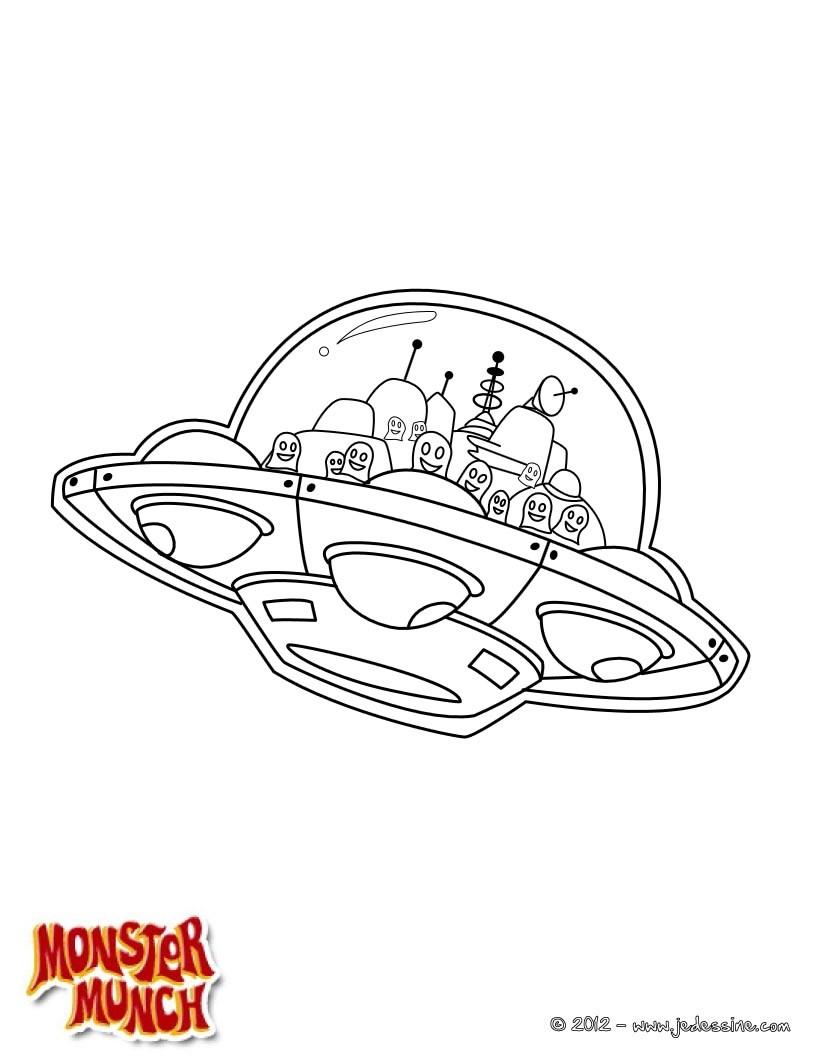 Dessin Soucoupe Volante coloriages coloriage soucoupe volante - fr.hellokids