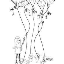 EMILY et les CHATS NOIRS à colorier - Coloriage - Coloriage PERSONNAGE BD - Coloriage EMILY THE STRANGE