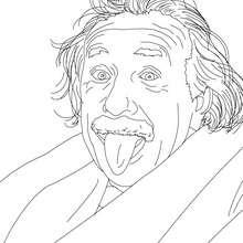 Coloriage du scientifique allemand ALBERT EINSTEIN - Coloriage - Coloriage HISTOIRE ET PAYS - Coloriage ALLEMAGNE - Coloriage PERSONNAGES HISTORIQUES ALLEMANDS