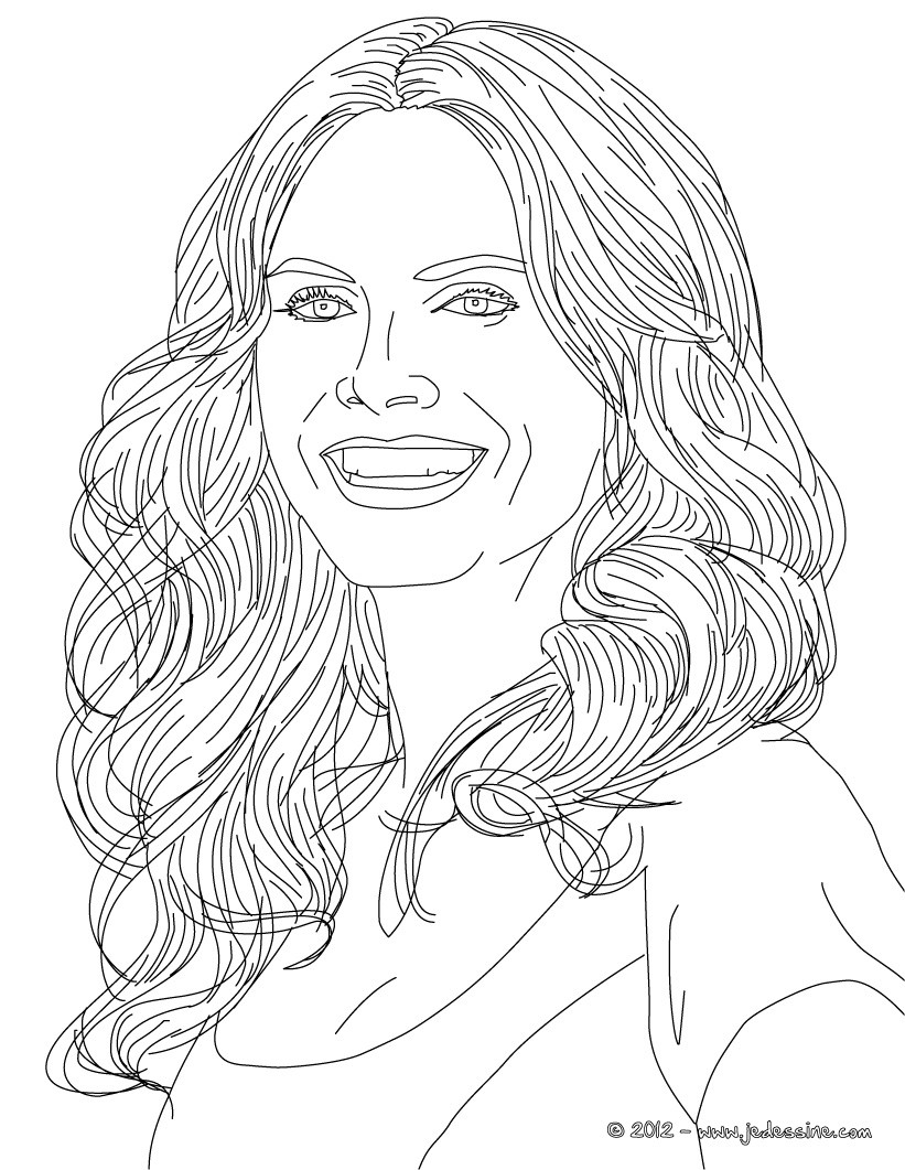 Coloriages coloriage du top model allemand heidi klum - Coloriage top model a imprimer ...