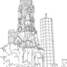 Coloriages Coloriage De L Eglise Du Souvenir A Berlin Fr Hellokids Com
