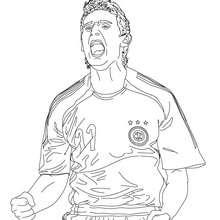 Coloriage du joueur de foot allemand MIROSLAV KLOSE