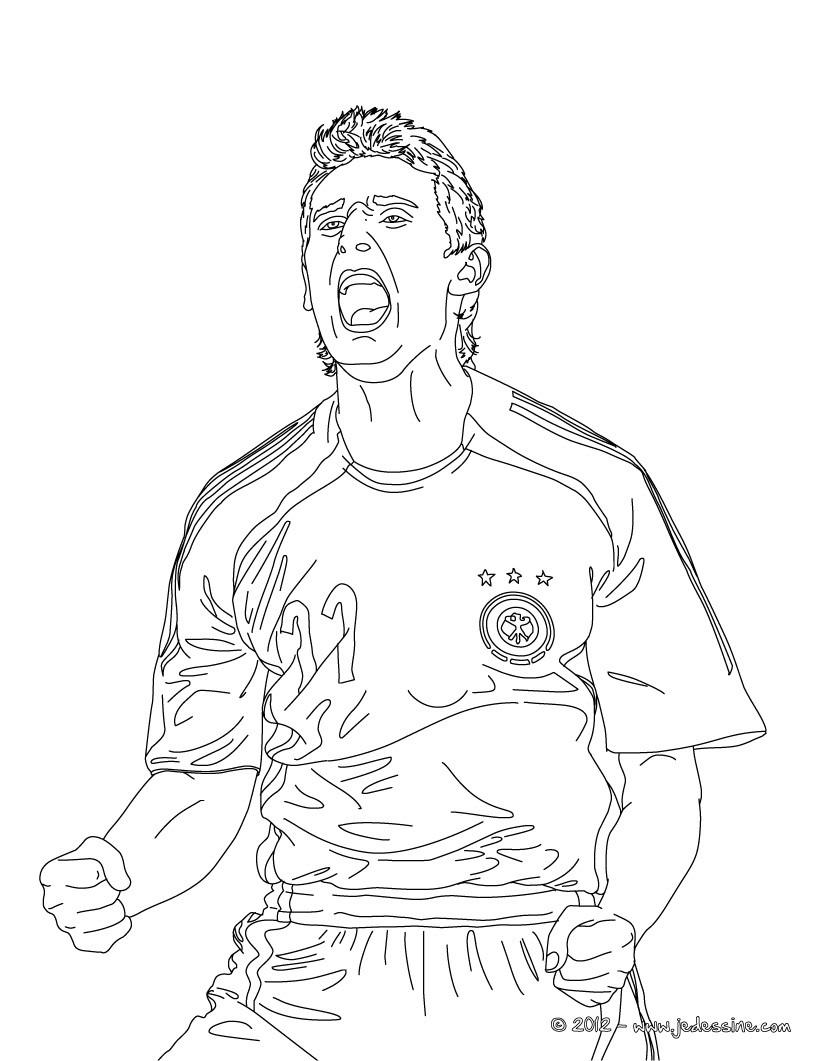 coloriages coloriage du joueur de foot allemand miroslav