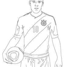Coloriage du joueur de foot allemand LUKAS PODOLSKI