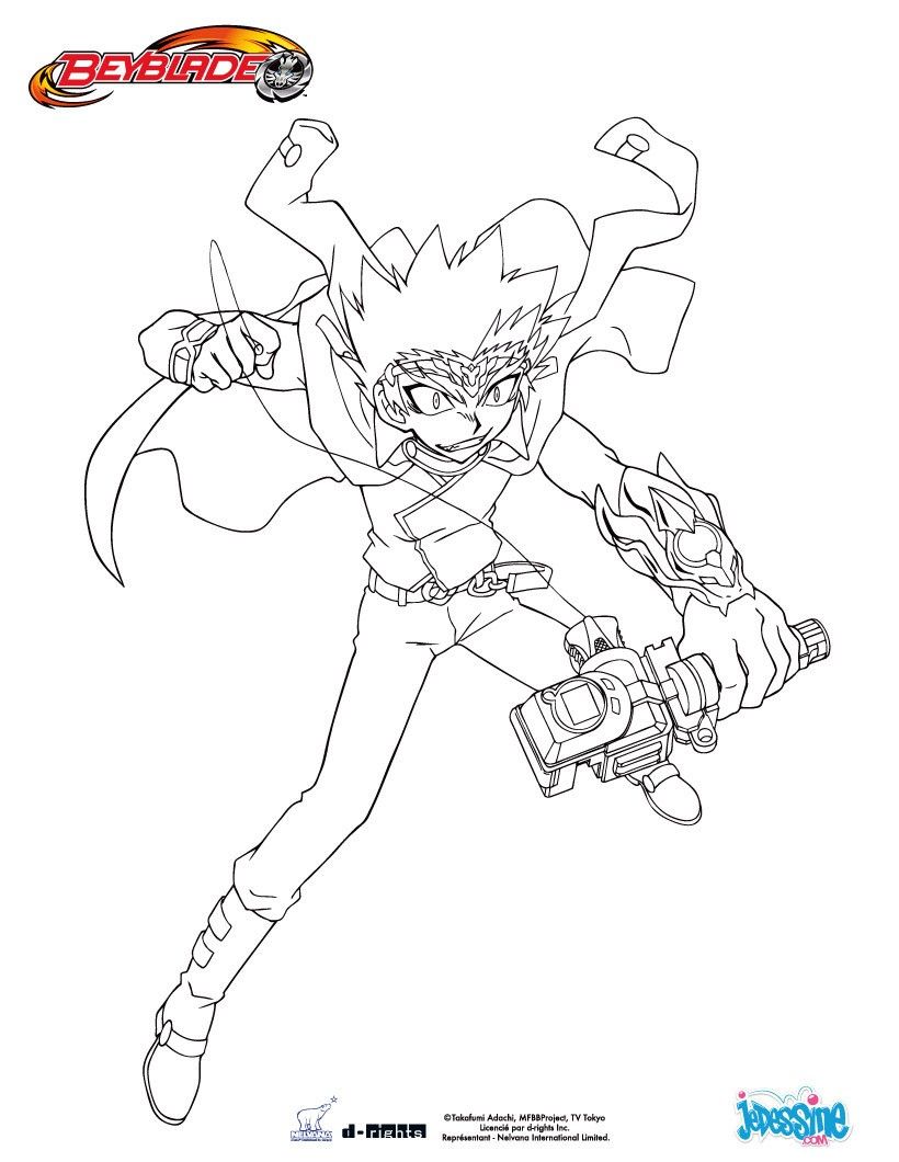 Coloriages coloriage ryuga - Coloriage toupie beyblade ...