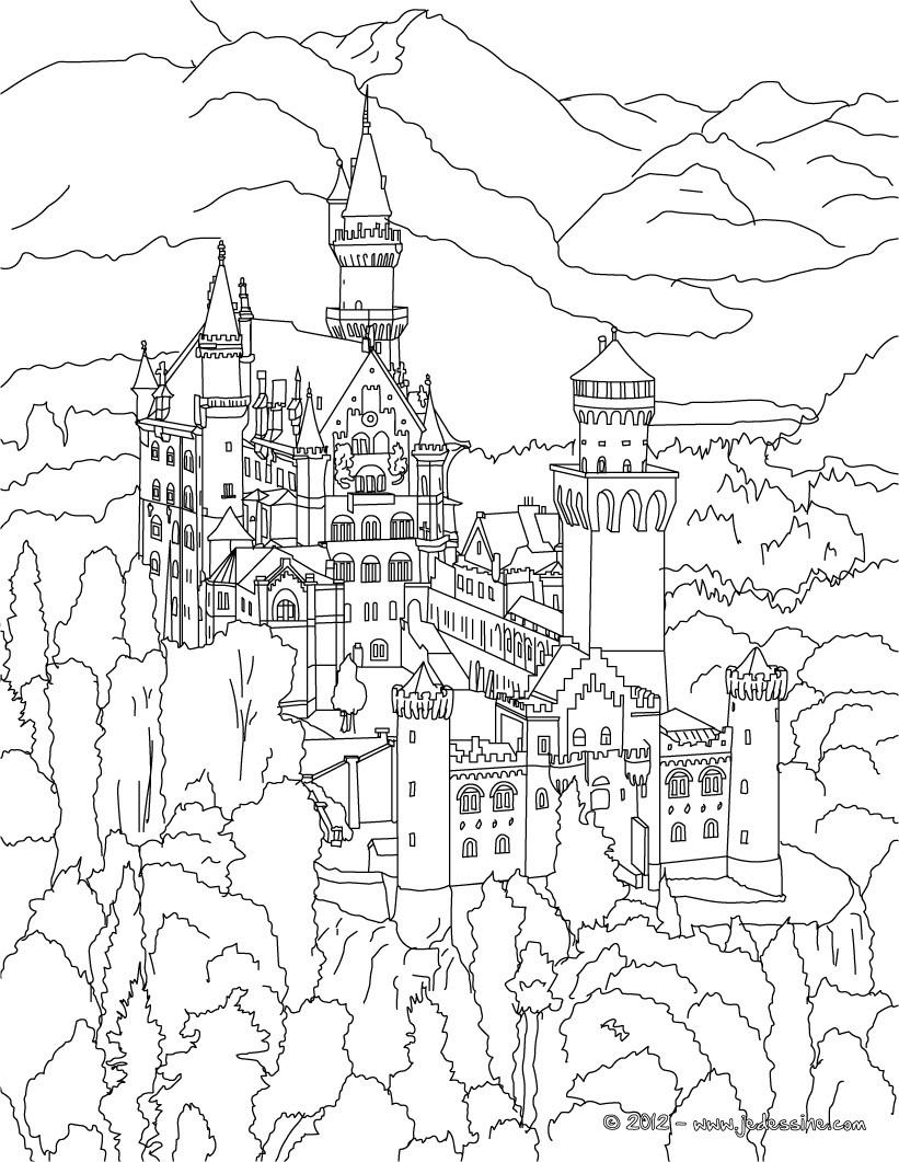 Coloriage En Ligne Chateau.Coloriages Coloriage De La Foret En Spirale A Darmstadt En