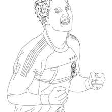 Coloriage du joueur de foot allemand  0 BASTIAN SCHWEINSTEIGER - Coloriage - Coloriage HISTOIRE ET PAYS - Coloriage ALLEMAGNE - Coloriage PERSONNAGES CELEBRES ALLEMANDS
