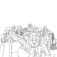 Coloriage du groupe de musique SEEED - Coloriage - Coloriage HISTOIRE ET PAYS - Coloriage ALLEMAGNE - Coloriage PERSONNAGES CELEBRES ALLEMANDS