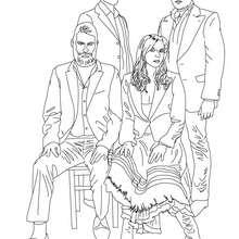 Coloriage du groupe de musique WIR SIND HELDEN - Coloriage - Coloriage HISTOIRE ET PAYS - Coloriage ALLEMAGNE - Coloriage PERSONNAGES CELEBRES ALLEMANDS