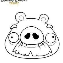 Le cochon moustachu de Angry Birds - Coloriage - Coloriage ANGRY BIRDS