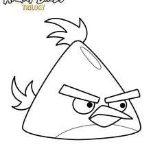 L'oiseau Jaune de ANGRY BIRDS - Coloriage - Coloriage ANGRY BIRDS