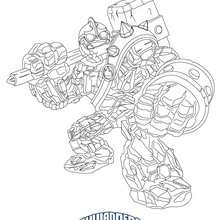 Coloriage CRUSHER - Coloriage - Coloriage SKYLANDERS GIANTS